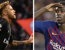 Neymar y Dembélé podrían protagonizar el trueque más importante en el próximo mercado de fichajes. (Foto Prensa Libre: Hemeroteca PL)