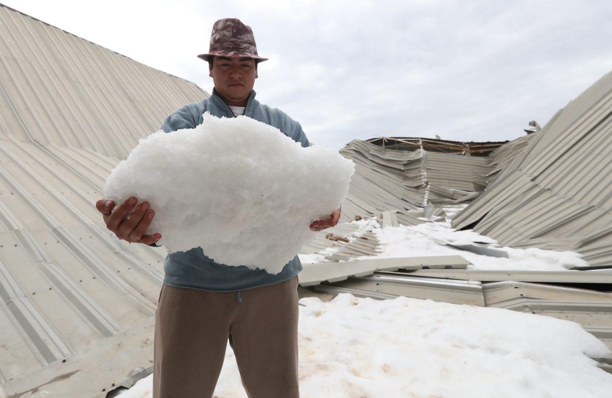 Espectacular granizada cae en Sija y San Vicente Buenabaj; 24 horas después el hielo no se derrite