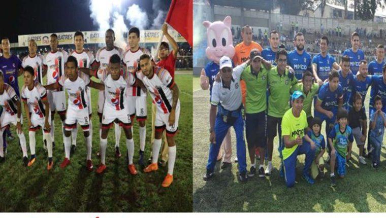 Quiché FC y el Deportivo Mixco disputarán la gran final del Clausura 2019 de la Primera División y las series de ascenso para la Liga Nacional (Foto Prensa Libre: elaboración propia)