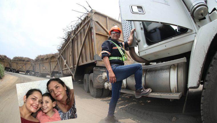 Cilda Morán ejecuta un trabajo fuerte, pero lo hace pensando en sus hijos.  Foto Prensa Libre: Esbin García.