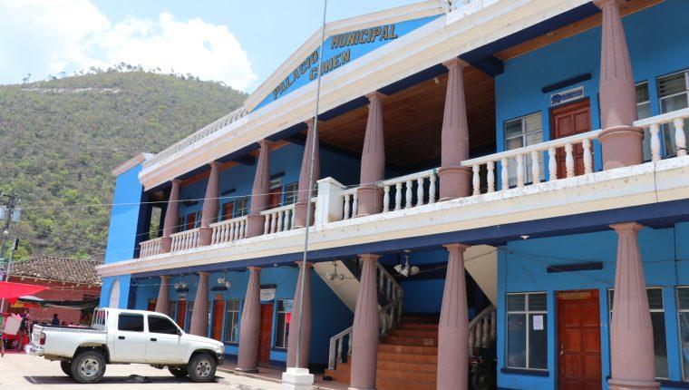 Municipalidad de Cunén. (Foto Prensa Libre: Héctor Cordero)