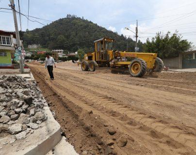 La constructora H3 Guatemala subcontrató a otra empresa para terminar los trabajos en la colonia Molina. (Foto Prensa Libre: Mynor Toc)