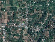 Vista panorámica de la aldea San Rafael Pacayá donde los vecinos tienen el control de la zona. (Foto Prensa Libre: Google Maps)