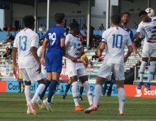 Guatemala fue derrotada por Estados Unidos, en el juego de cierre del grupo F. (Foto Prensa Libre: CDG)