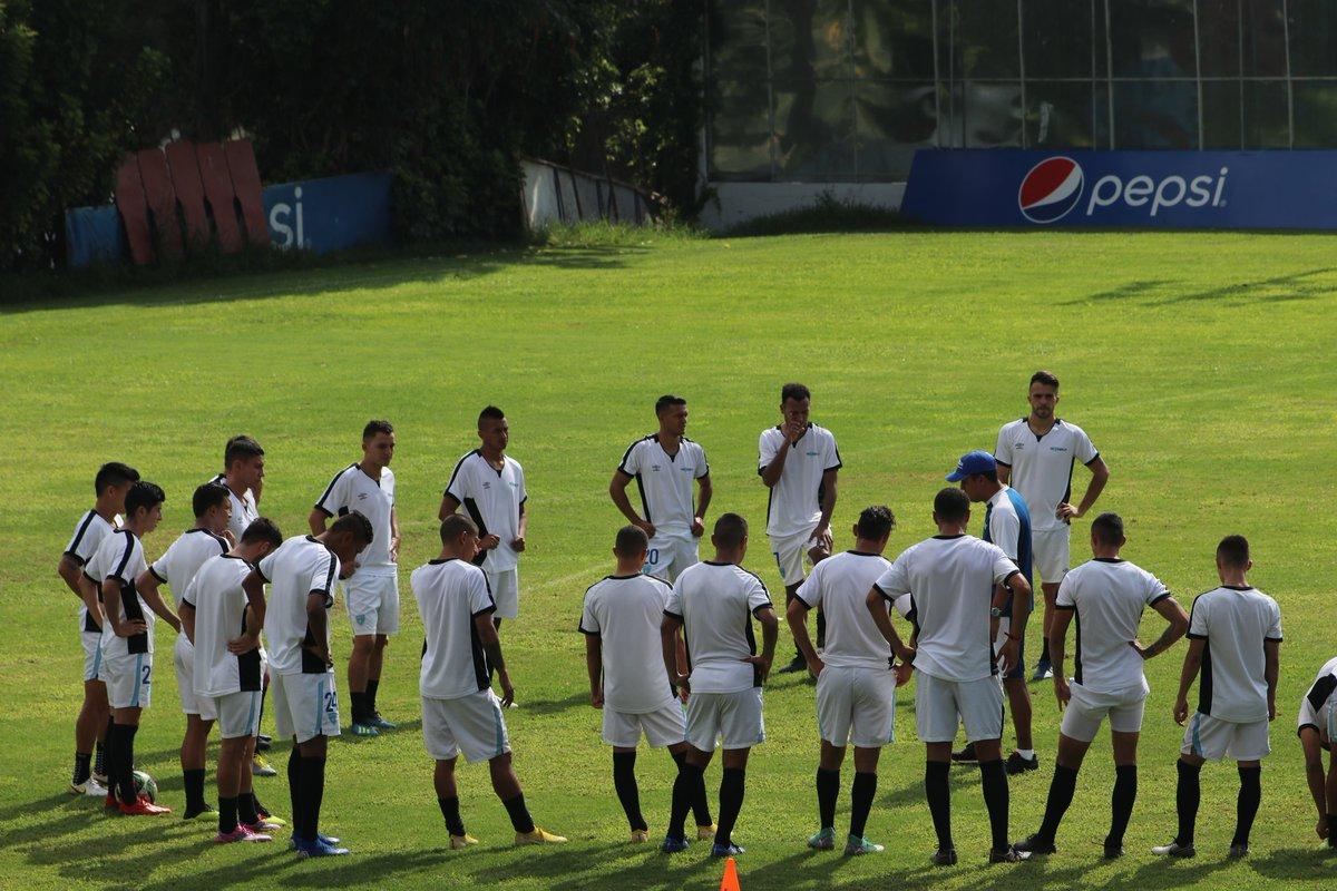 La Selección Nacional de Guatemala se prepara para el amistoso frente a Paraguay del 9 de junio. (Foto Prensa Libre: Fedefut)