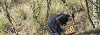 Los restos localizados en un área boscosa de Totonicapán pertenecen al niño Josué Santos Elías Tax Canastuj. (Foto Prensa Libre: Cortesía)