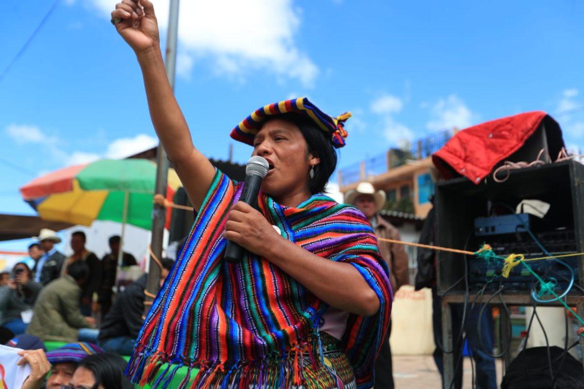 Thelma Cabrera insiste en asamblea constituyente popular y plurinacional