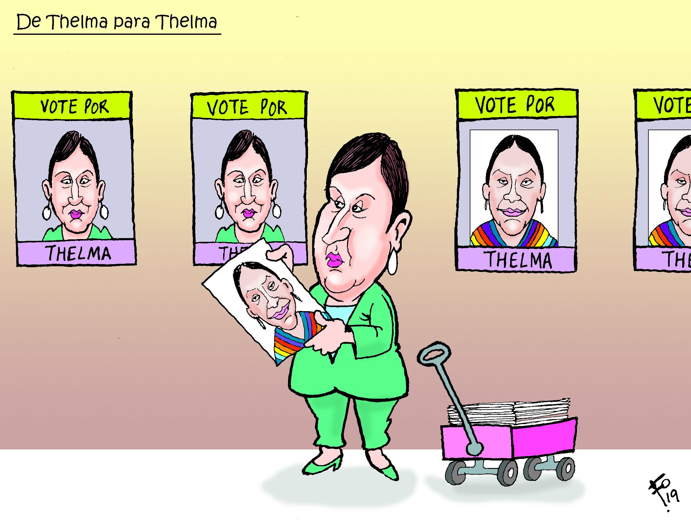Personajes: Thelma Aldana y Thelma Cabrera.