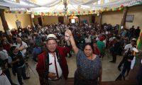 Pablo Ignacio Ceto Sánchez y Blanca Estela Colop Alvarado fueron proclamados como candidatos a la presidencia y vicepresidencia por el partido URNG. (Foto Prensa Libre: Esbin García).