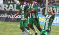 Con un doblete de Agustín Herrera, Antigua GFC superó a Cobán Imperial y gana el la fase de clasificación del Clausura 2019. (Foto Prensa Libre: Carlos Vicente)