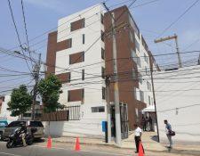 El edificio de apartamentos se encuentra en la 15a venida y 7a. calle de la zona 6.(Foto Prensa Libre: José Patzán)