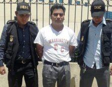El condenado fue detenido por agentes de la Policía Nacional Civil en julio de 2017. (Foto Prensa Libre: María Longo)
