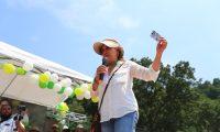 Sandra Torres participa en acto electoral en Izabal.