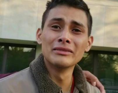 Yiovanni López en el momento que se entero que su esposa había sido asesinada. (Foto Prensa Libre: Redes)