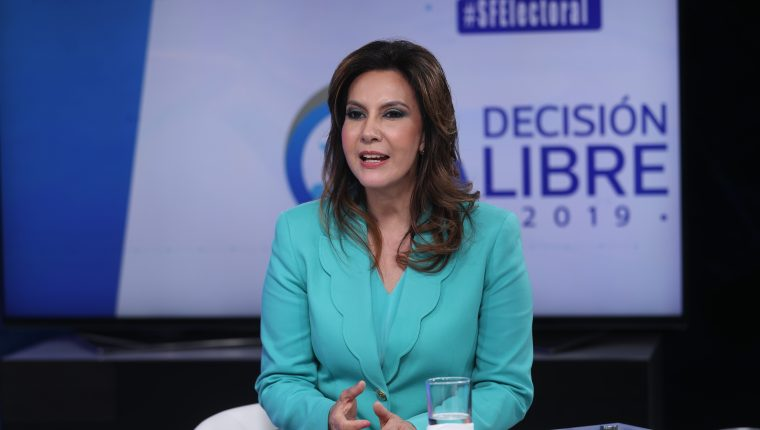 Zury Rios, candidata a presidente por el Partido Valor. Entrevista en Decisi—n Libre 2019.                                                                                              Fotograf'a Esbin Garcia 07-05- 2019.