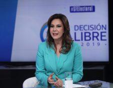 Zury Ríos, candidata del partido Valor, partició en Sin Filtro Electoral de Prensa Libre y Guatevisión. (Foto Prensa Libre: Esbin García)