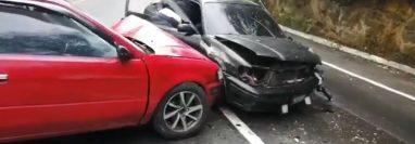 Varios accidentes han dejado heridos durante este viernes. (Foto Prensa Libre: Provial)