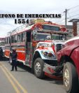 Bus extraurbano que conducía el piloto que fue asesinado. (Foto Prensa Libre: CBMD).