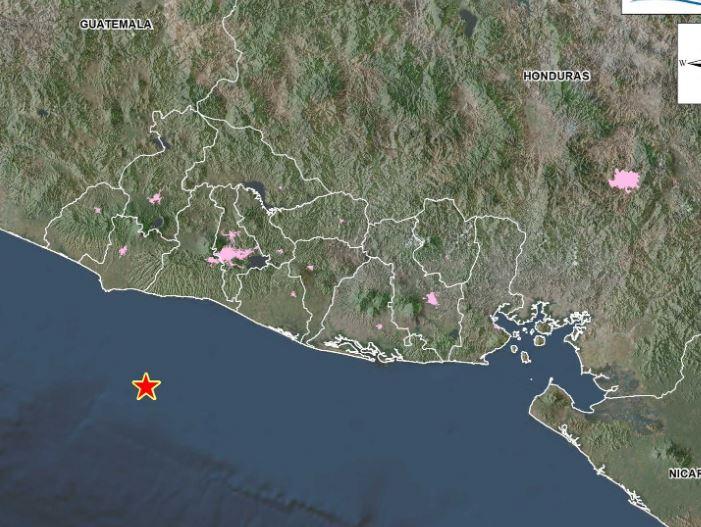 El sismo es el segundo en 48 horas frente a las costas salvadoreñas. (Foto: MARN)