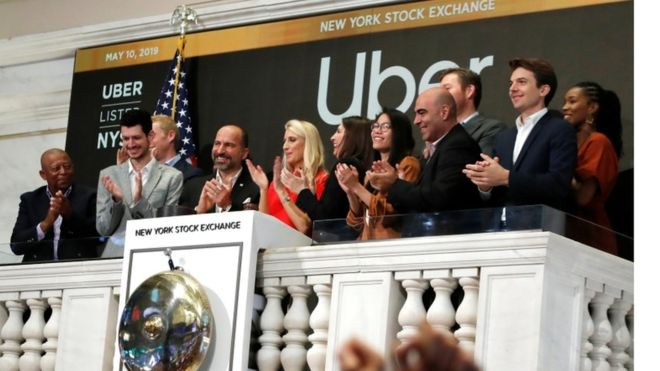 Uber hizo su estreno en bolsa este viernes. REUTERS