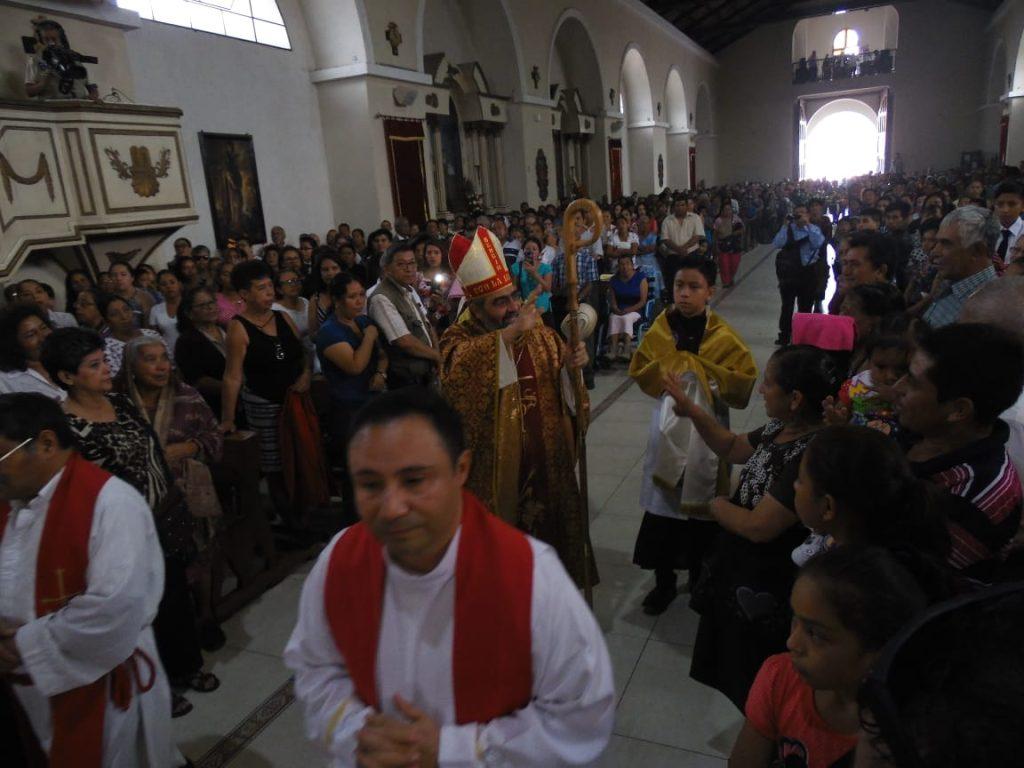 Este día se inició con una misa en honor a la festividad del Niño Jesús. Foto Prensa Libre: Néstor Galicia