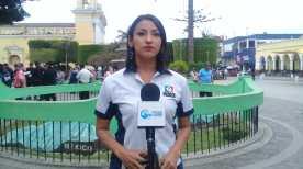 Cabildo Abierto de Prensa Libre y Noticiero Guatevisión se transmitió este viernes desde el parque central de Huehuetenango. (Foto Prensa Libre: Mike Castillo)