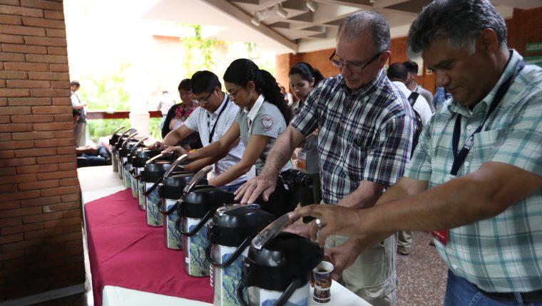 La finca El Injerto logró vender la libra de café en US$13.25 durante la subasta electrónica, que realizó Anacafé. (Foto Prensa Libre: Raúl Juárez)