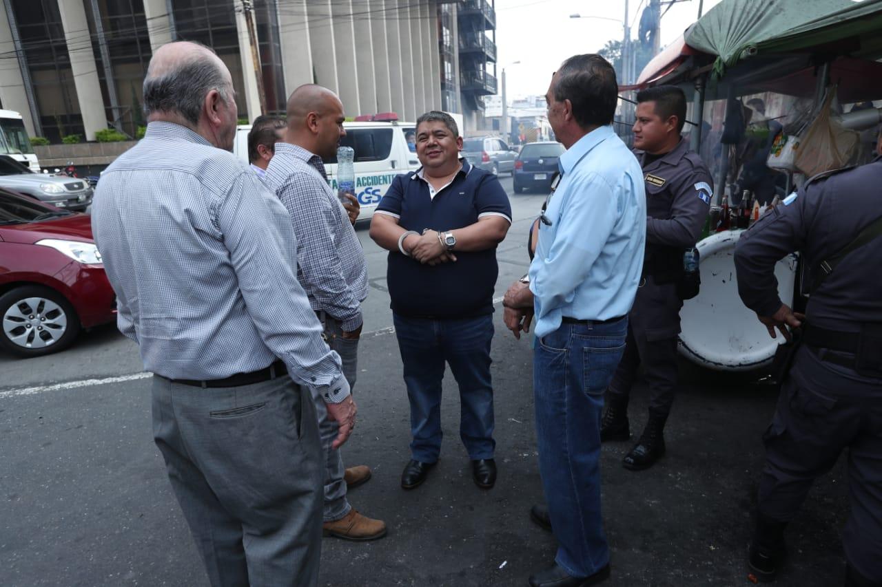 El empresario del transporte Luis Alfonso Gómez González, quien fue directivo de la Asociación de Empresas de Autobuses Urbanos (AEAU). es uno de los procesados. (Foto Prensa Libre: Esbin García)