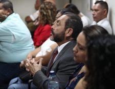 Mauricio López Bonilla, durante la etapa de conclusiones del caso Patrullas fase 2. (Foto Prensa Libre: Carlos Hernández)