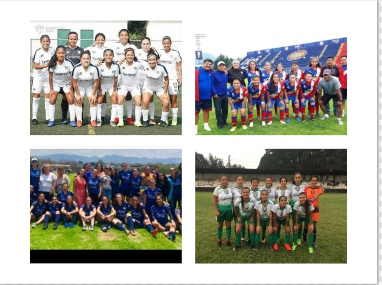 Los cuatro equipos semifinalistas están listos para pelear por la supremacía del futbol femenino de Guatemala. (Foto Prensa Libre: Cortesía)