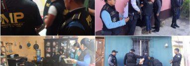 La Inspectoría General de la PNC realizó allanamientos en Jutiapa y Santa Rosa. (Foto Prensa Libre: PNC)