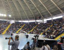 Juramentación de las Juntas Receptoras de Votos del Distrito Central en el Polideportivo del Domo de la zona 13. (Foto: Prensa Libre)