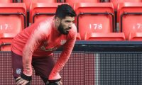 Barcelona's Uruguayan striker Luis Suarez attends a training session at Anfield stadium in Liverpool, north west England on on May 6, 2019, on the eve of their UEFA Champions League semi-final second leg football match against Liverpool. (Photo by Lindsey PARNABY / AFP)