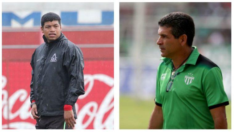 El costarricense Ronald Gómez y el mexicano José Antonio Torres, buscan la corona de campeón en el futbol guatemalteco. (Foto Prensa Libre: Hemeroteca PL)