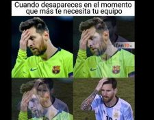 Messi fue el centro de los memes tras la eliminación del Barcelona de la Champions. (Foto Redes)
