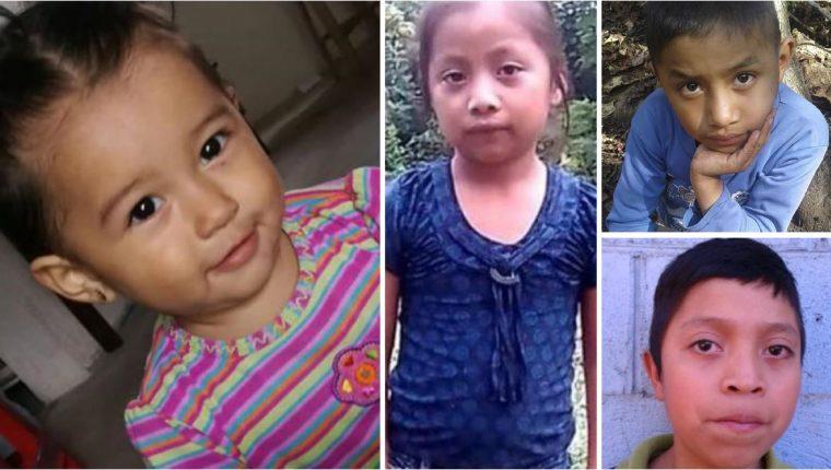 Mariee Juárez, Jakelin Caal, Felipe Gómez y Juan de León, cuatro de los seis niños que han muerto en su intento por llegar a Estados Unidos. (Foto Prensa Libre: Hemeroteca PL)