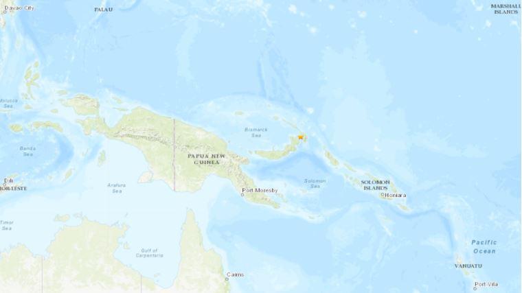 El sismo también activó la alerta de tsunami. (Foto Prensa Libre: USGS)