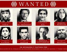 Afiche policial con que se anuncia la llegada de la tercera temporada de La Casa de Papel. (Foto: Clarín/Netflix)