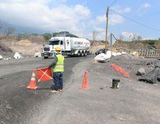 La ruta es transitable, luego de los daños ocasionados por el Volcán de Fuego.