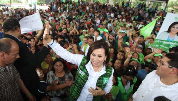Sandra Torres, durante un mitin en el 2015. (Foto: Hemeroteca PL)