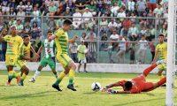 Guastatoya derrota 1-0 a Antigua GFC en el duelo de ida de la serie que da el boleto a la Liga de Campeones de la Concacaf, disputado este miércoles 8 de agosto de 2018, en el estadio Pensativo (Foto Prensa Libre: Edwin Fajardo)