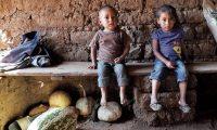 Cantón Valencia , Jutiapa,  población que  actualmente padecen de problemas de desnutrición, pobreza y degradación  de los recursos naturales son algunos efectos de la sequía prolongada en la zona, conocida como Corredor Seco. Los niños son los mas afectados por la desnutrición. Fotografia Esbin Garcia
