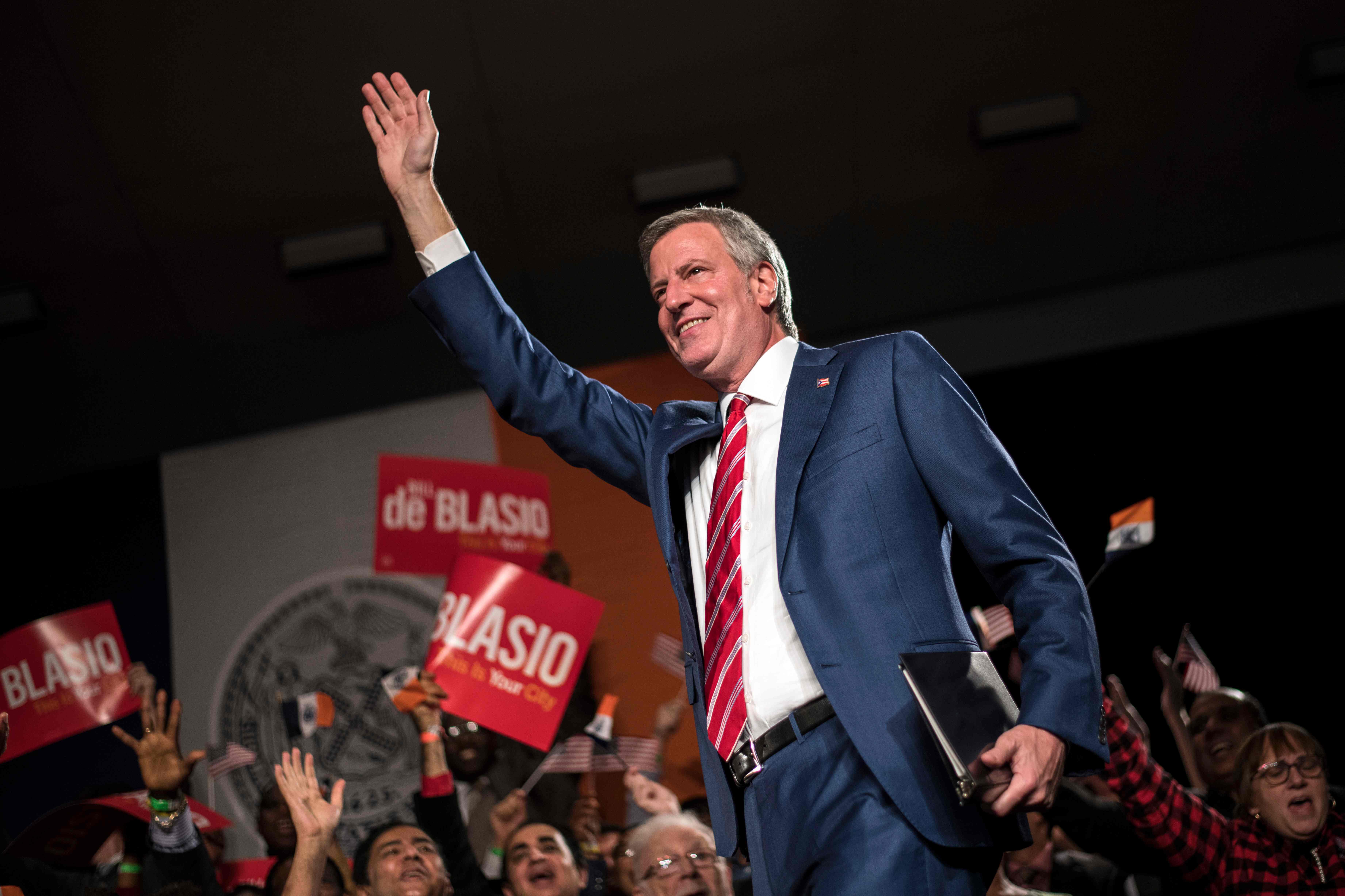 Bill de Blasio finalmente confirmó su candidatura luego de días de especulación. (Foto Prensa Libre: AFP)