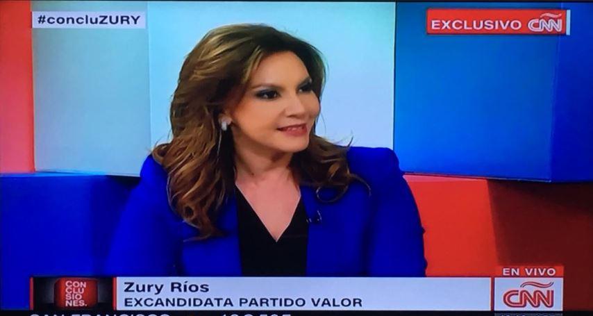 """Zury Ríos habla en CNN en Español sobre el """"no"""" definitivo a su candidatura."""