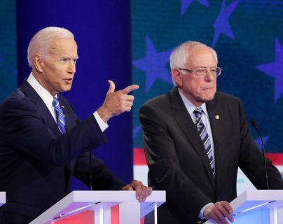 Joe Biden, quien busca ser el candidato demócrata para las próximas elecciones presidenciales de EE.UU. criticó fuertemente a Donald Trump. (Foto Prensa Libre: AFP)