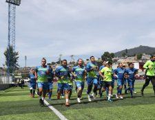 El deportivo Mixco se entrenó por primera vez de cara al Apertura 2019. (Foto Prensa Libre: Francisco Sánchez).