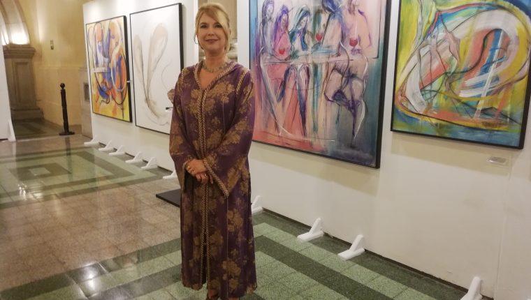 Beverley Rowley ha destacado en exposiciones plásticas individuales y colectivas en Guatemala, Estados Unidos, Canadá, Italia y República Dominicana.  (Foto Prensa Libre: Ingrid Reyes)