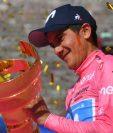 Richard Carapaz es una de las nuevas figuras del ciclismo internacional. (Foto Prensa Libre: )