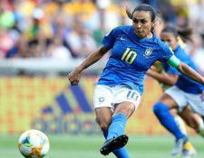 Marta anotó un gol en el partido entre Brasil y Australia.
