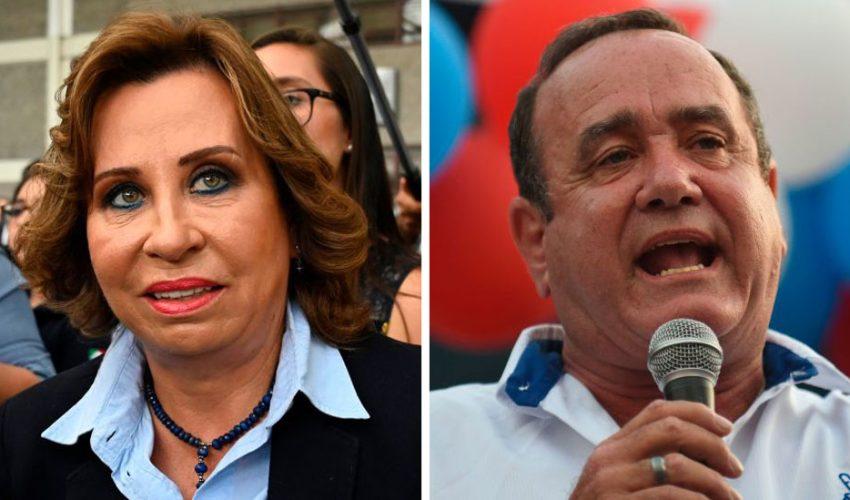 La candidata de UNE, Sandra Torres, y el del partido Vamos, Alejandro Giammattei, competirán por la presidencia de Guatemala en segunda vuelta el 11 de agosto.